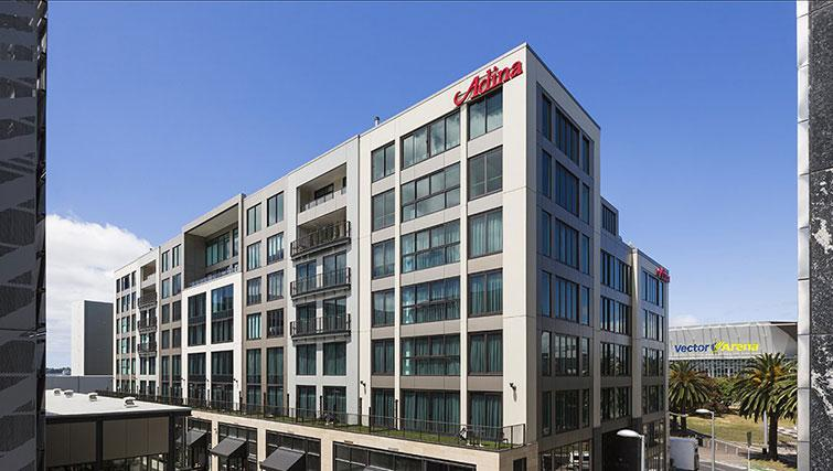 Exterior of Britomart Apartments - Citybase Apartments