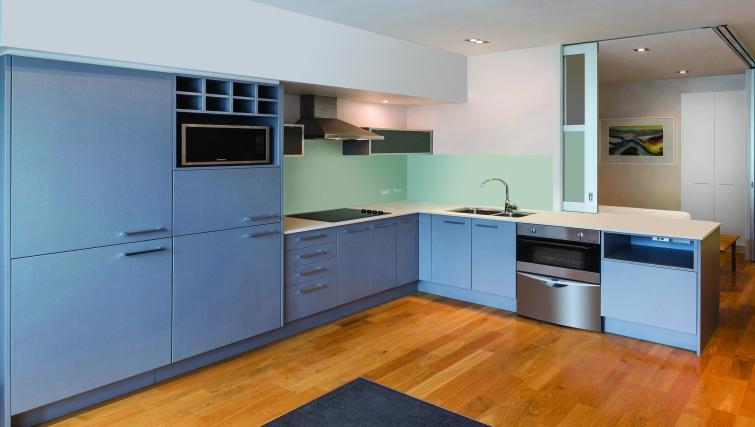Kitchen at Britomart Apartments - Citybase Apartments