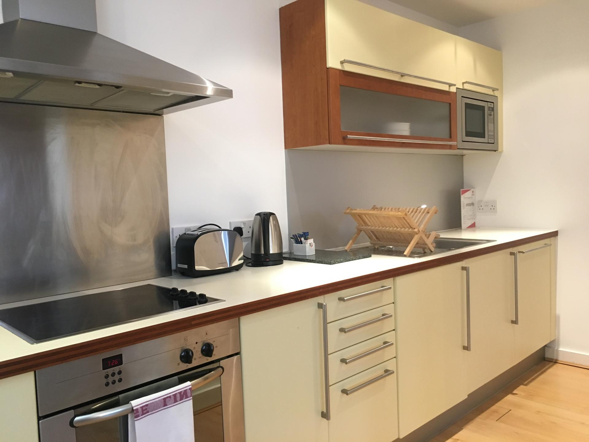 Kitchen facilities at Still Life Old Street Deluxe - Citybase Apartments