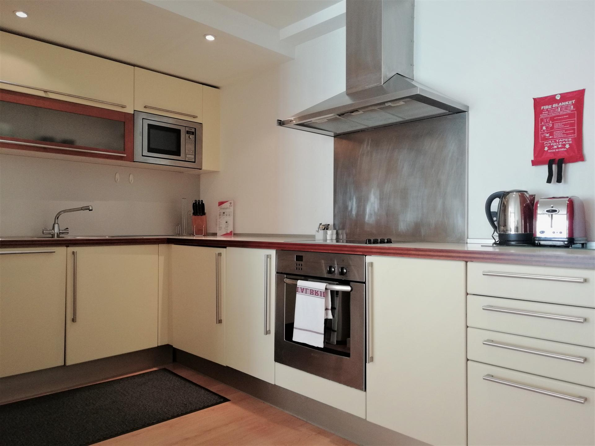 Kitchen at Still Life Old Street Deluxe, Old Street, London - Citybase Apartments