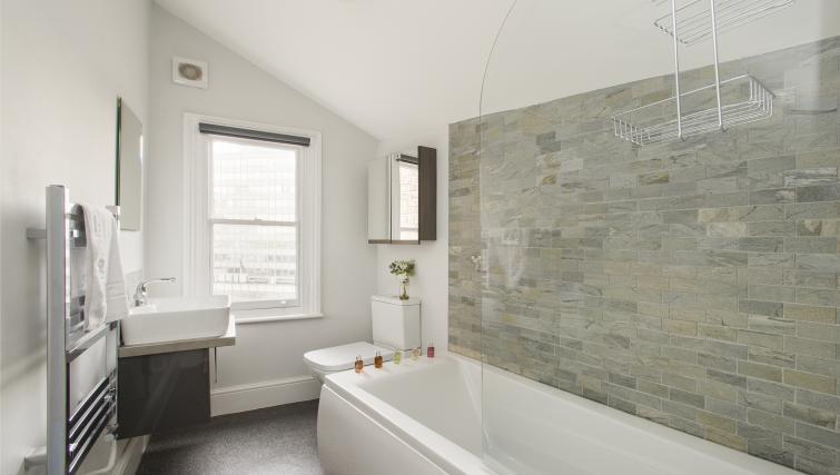 Bathroom at Market Street Apartments - Citybase Apartments