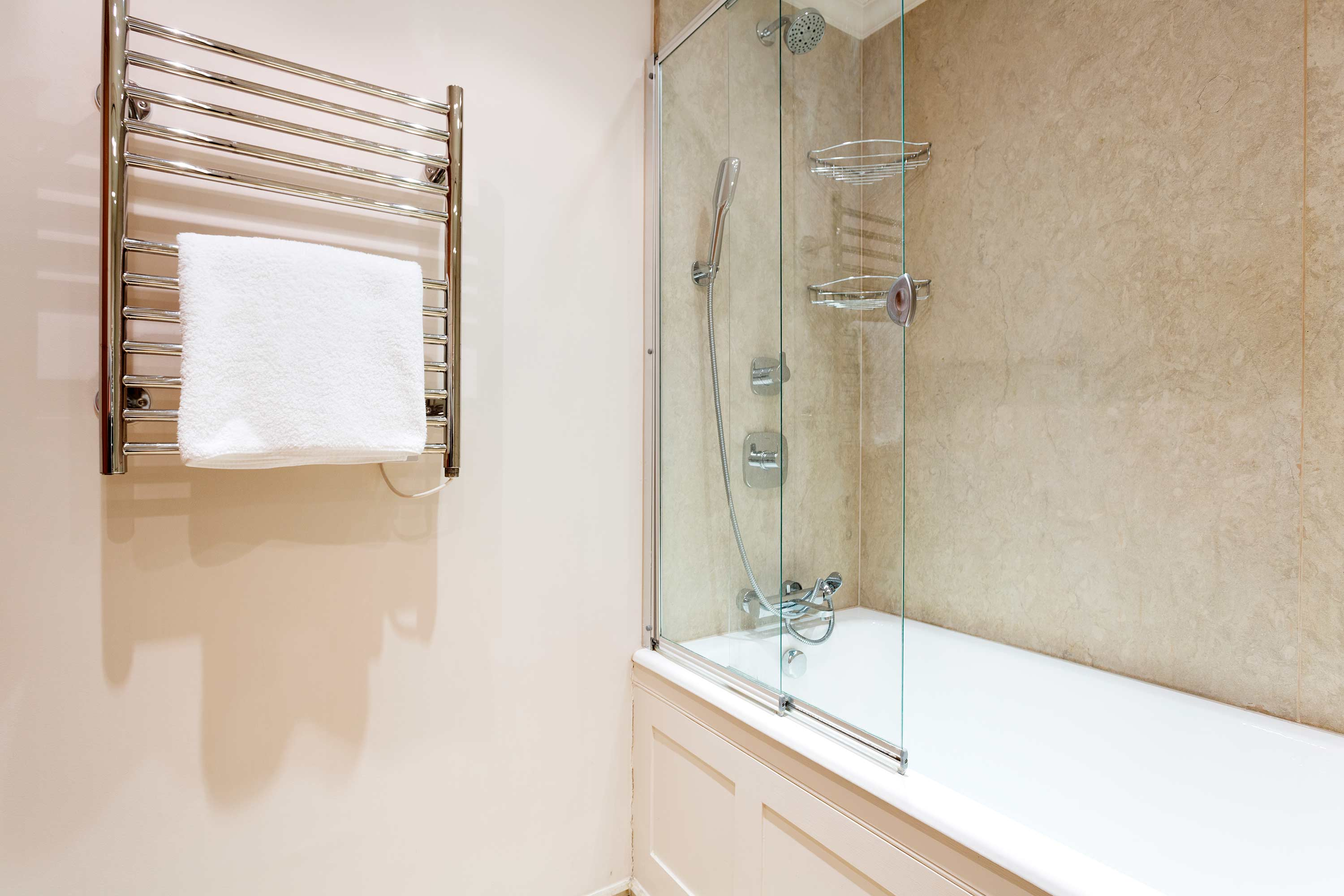 Clean bathroom at Redcliffe Retreat Apartment - Citybase Apartments