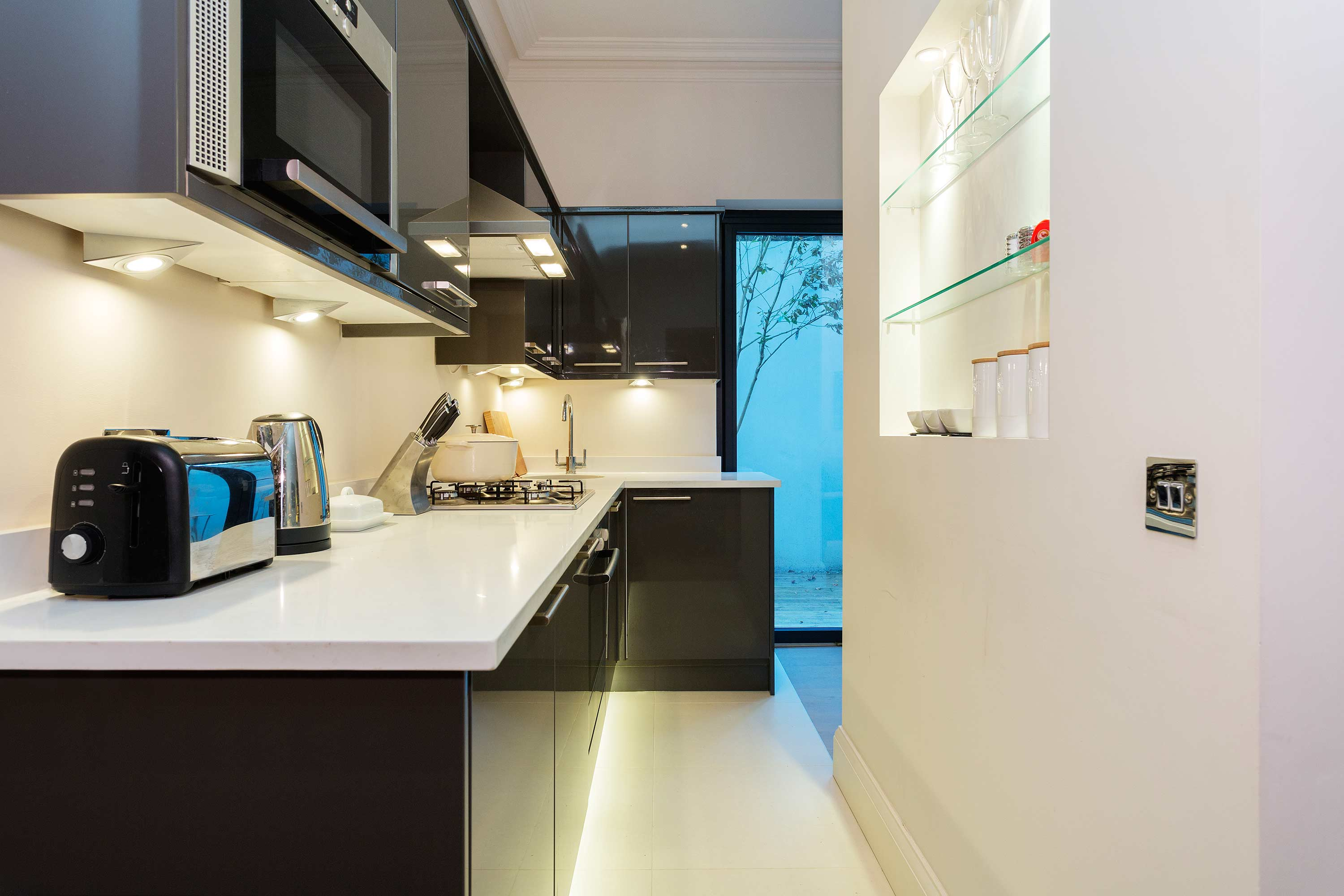Kitchen at Redcliffe Retreat Apartment - Citybase Apartments