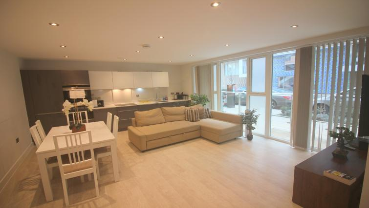 Living room at the The Station Suite - Citybase Apartments