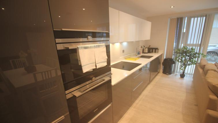 Sleek kitchen facilities at the The Station Suite - Citybase Apartments