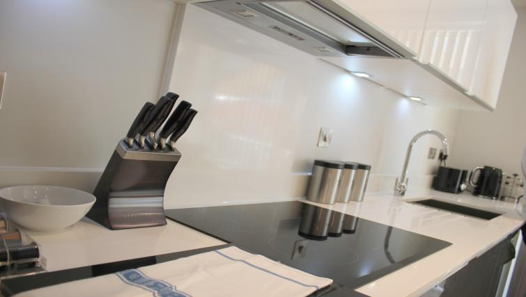 Kitchen equipment at the The Station Suite - Citybase Apartments