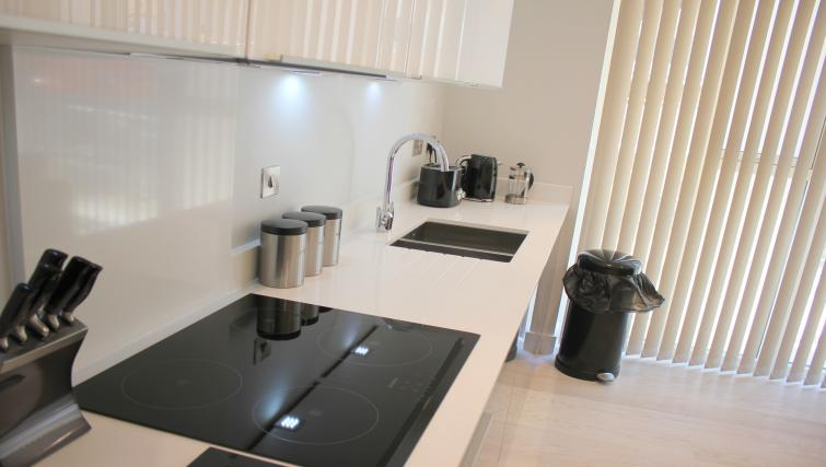 Sleek kitchen at the The Station Suite - Citybase Apartments