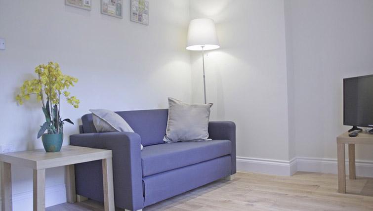 Comfy sofa at Oxford Gardens Apartments - Citybase Apartments