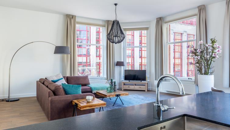 Open-plan living area at City Hall Bridge Apartments - Citybase Apartments