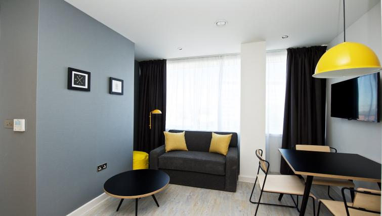 Living space at Staycity Manchester Piccadilly - Citybase Apartments