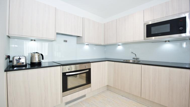 Modern kitchen at Staycity Manchester Piccadilly - Citybase Apartments