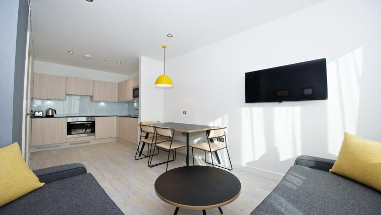 Stylish living area at Staycity Manchester Piccadilly - Citybase Apartments