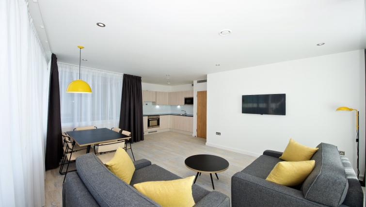 Living room in Staycity Manchester Piccadilly - Citybase Apartments
