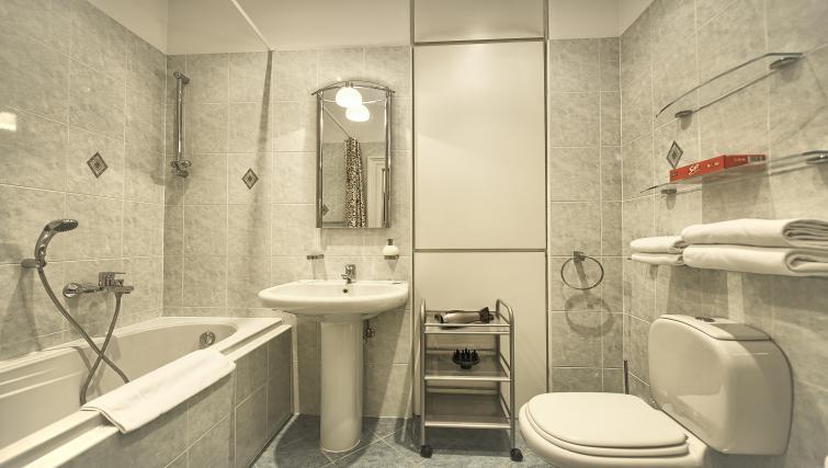 Bathroom at Maiselova 5 Apartment - Citybase Apartments
