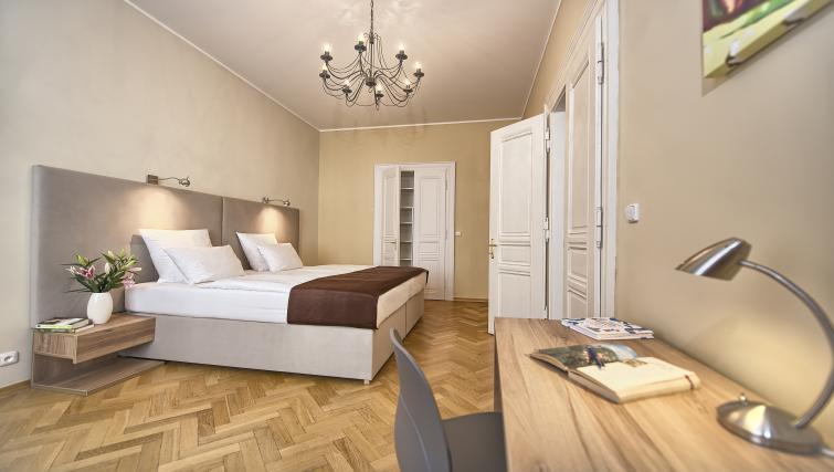 Bedroom at Maiselova 5 Apartment - Citybase Apartments
