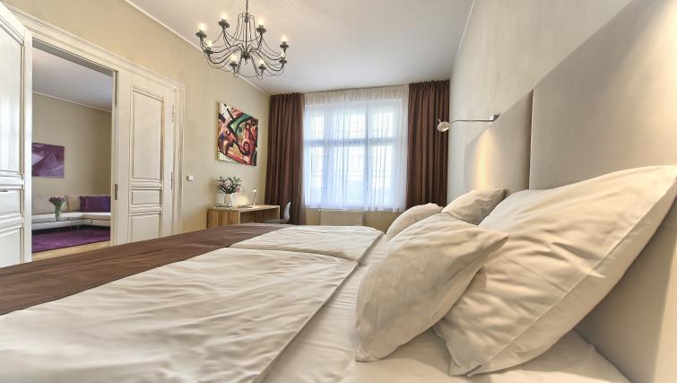 Bed at Maiselova 5 Apartment - Citybase Apartments