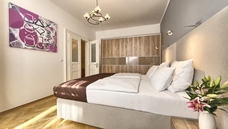 Double bedroom at Maiselova 5 Apartment - Citybase Apartments