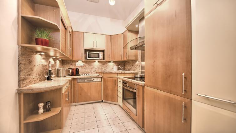 Kitchen at Maiselova 5 Apartment - Citybase Apartments