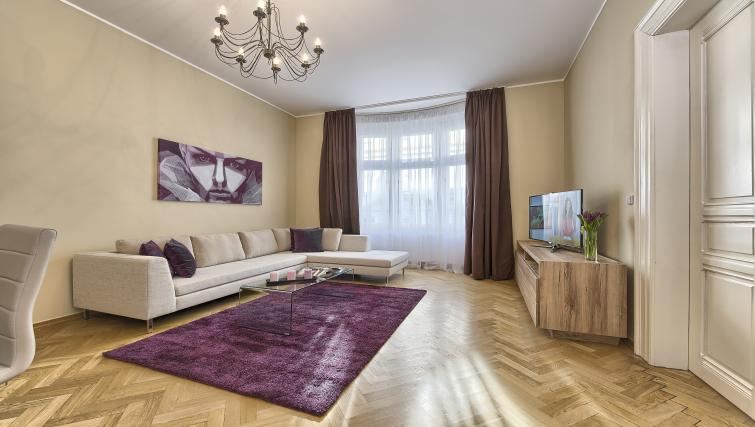 Living area at Maiselova 5 Apartment - Citybase Apartments
