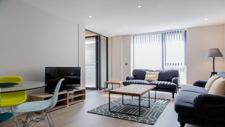 Stylish living area at The Bellerby Apartments - Citybase Apartments