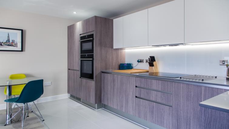 Modern kitchen at The Bellerby Apartments - Citybase Apartments