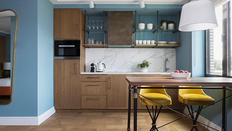 Fully equipped kitchen at Hotel Twenty Eight Apartments, Amsterdam - Citybase Apartments