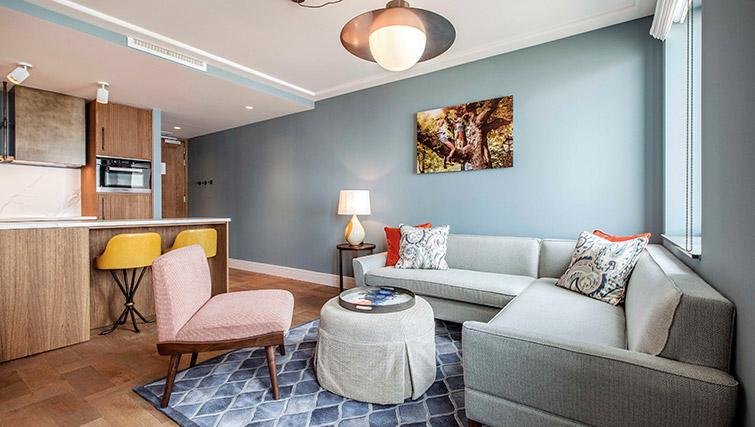 Living space at Hotel Twenty Eight Apartments, Amsterdam - Citybase Apartments