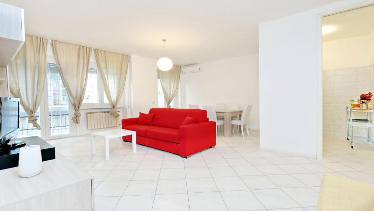 Living area at Rodriguez Pereira Apartment - Citybase Apartments