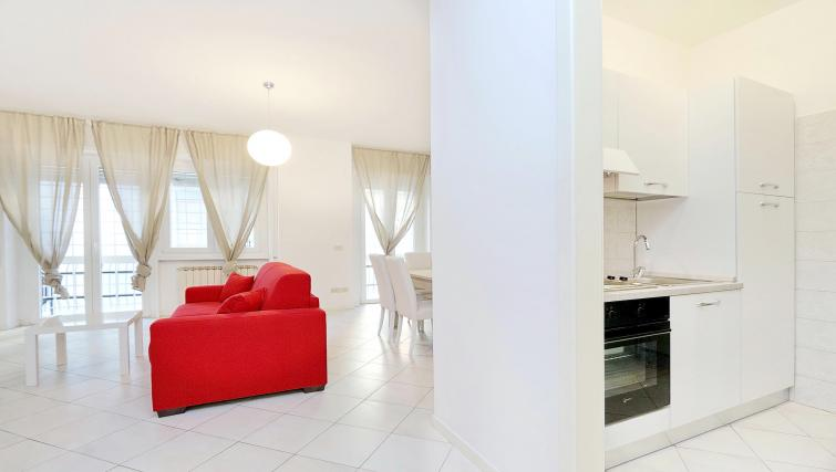 Living space at Rodriguez Pereira Apartment - Citybase Apartments