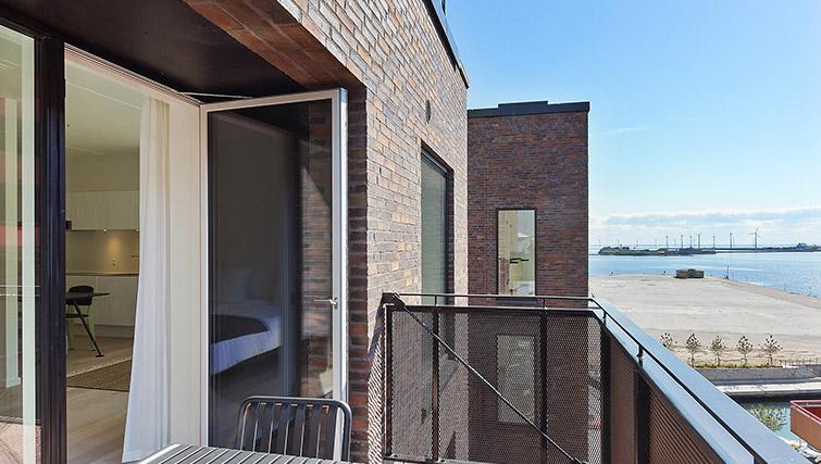 Furnished balcony at Stay Seaport Apartments - Citybase Apartments