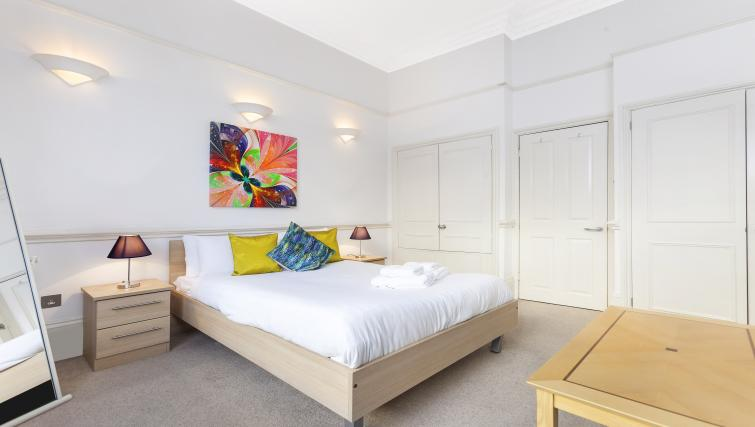 Stylish bedroom at the Paddington Hyde Park Apartments - Citybase Apartments