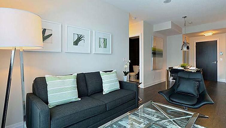 Living area at Hullmark Apartments - Citybase Apartments