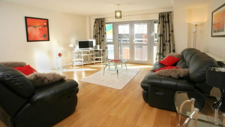 Modern living area in Hamilton Court Apartments - Citybase Apartments