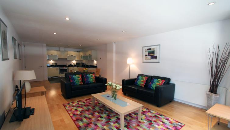 Living area at Saffron Hill - Citybase Apartments
