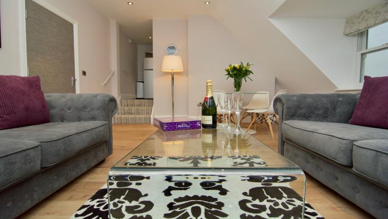 Coffee table at Harrogate Lifestyle Apartments - Citybase Apartments