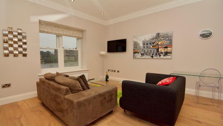 Stylish living area at Harrogate Lifestyle Apartments - Citybase Apartments