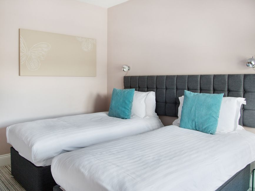 Bright bedroom at Harrogate Lifestyle Apartments - Citybase Apartments