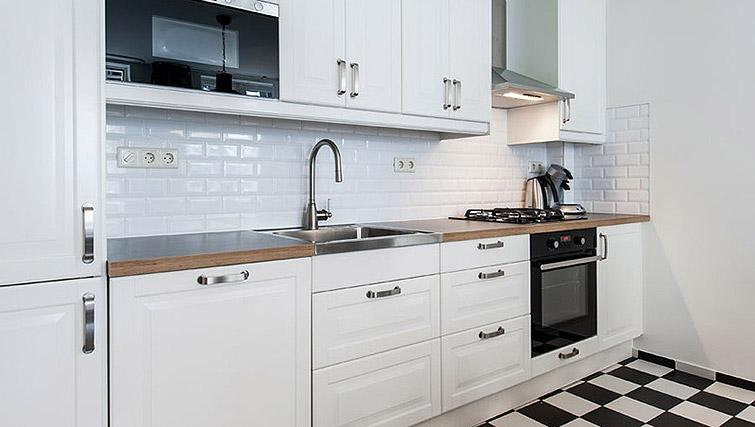 Fully equipped kitchen at Vondelgarden Apartments, Amsterdam - Citybase Apartments