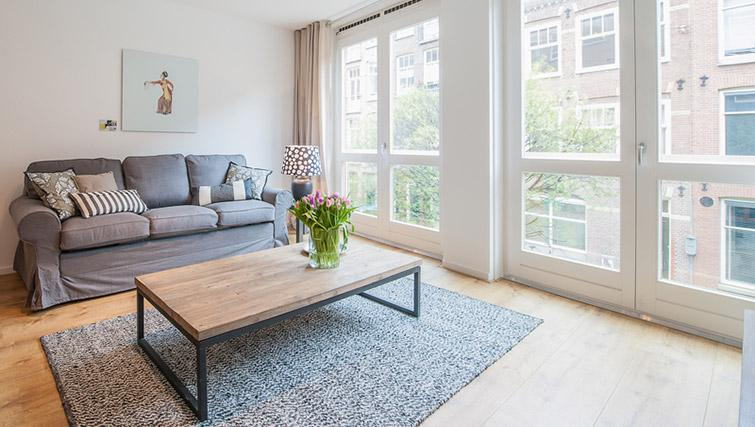 Modern living area at De Pijp Apartments, Amsterdam - Citybase Apartments