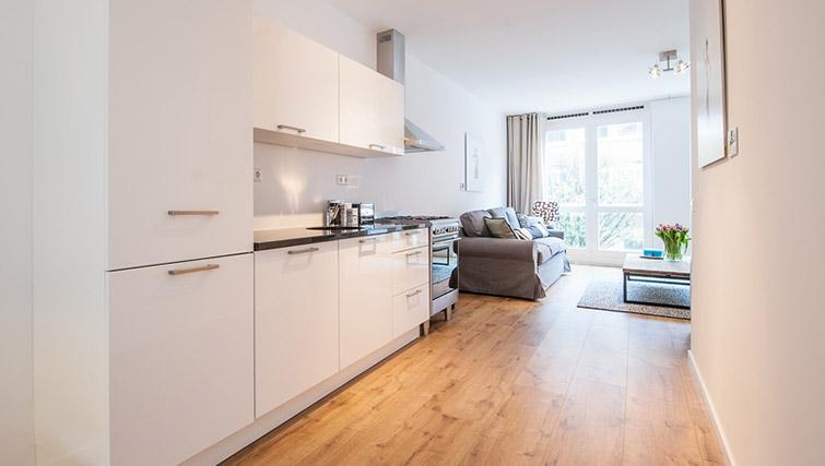 Full kitchen at De Pijp Apartments, Amsterdam - Citybase Apartments
