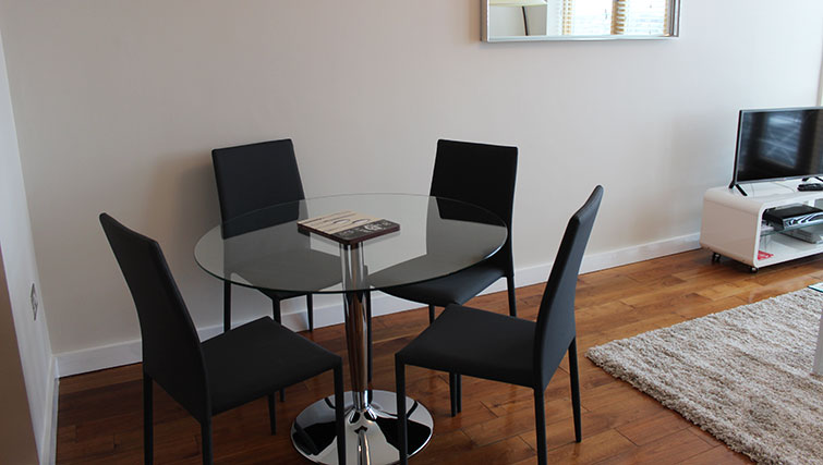 Dining area at The Dickens Apartment - Citybase Apartments