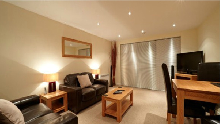 Superior living area in The Paramount Swindon Apartments - Citybase Apartments