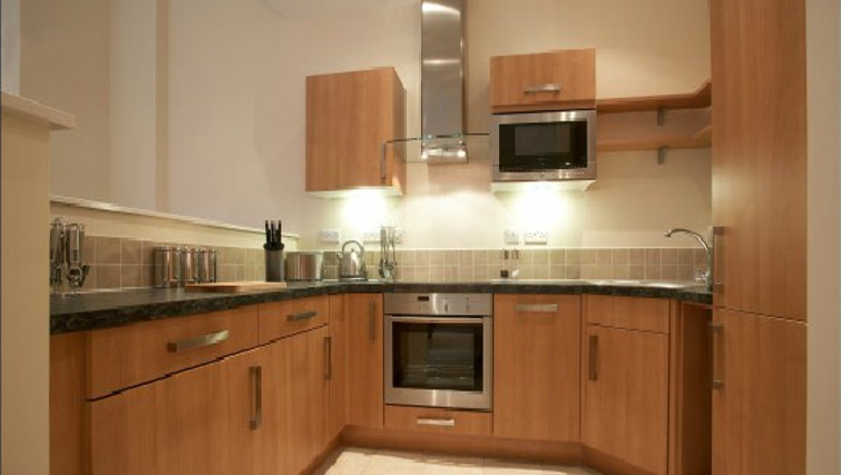 Compact kitchen in The Paramount Swindon Apartments - Citybase Apartments