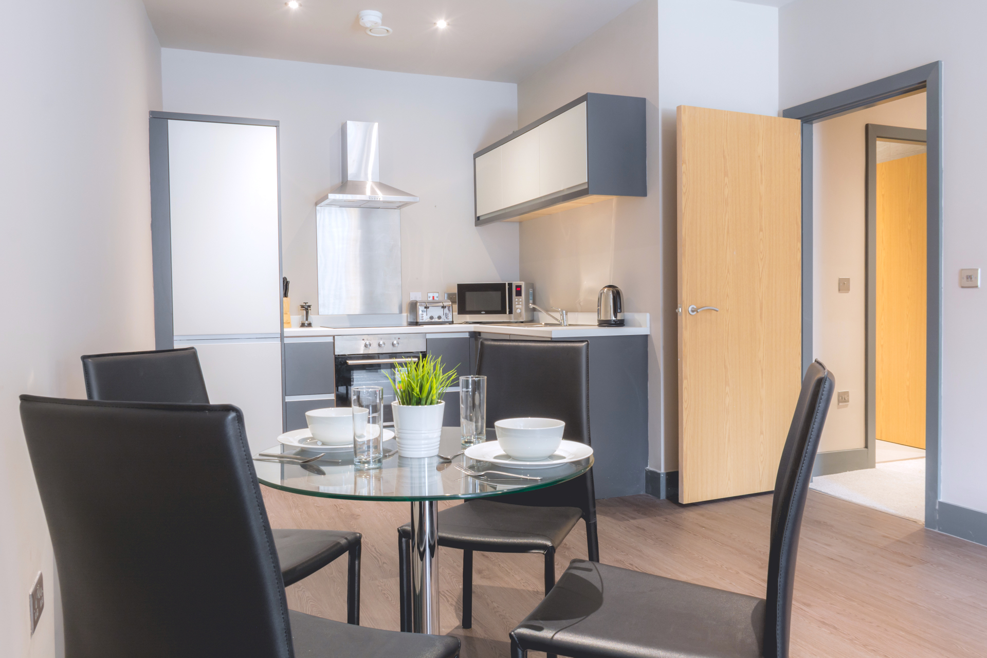Dining area at Dream Apartments at Water Street - Citybase Apartments
