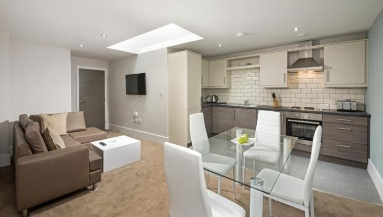 Living area at Dream Apartments at Bigg Market - Citybase Apartments