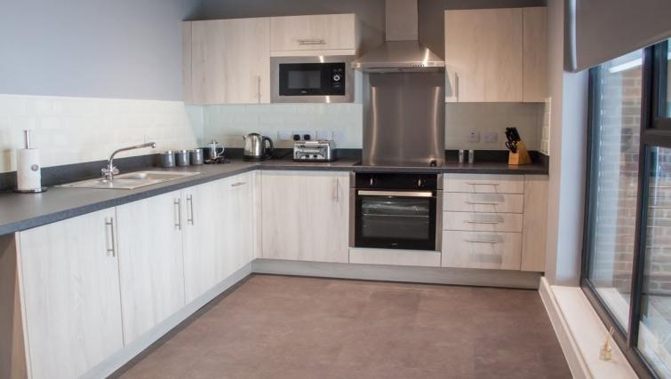 Kitchen at Dream Apartments Quayside - Citybase Apartments