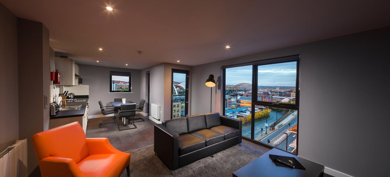 Open plan living at Dream Apartments Quayside, Centre, Newcastle - Citybase Apartments
