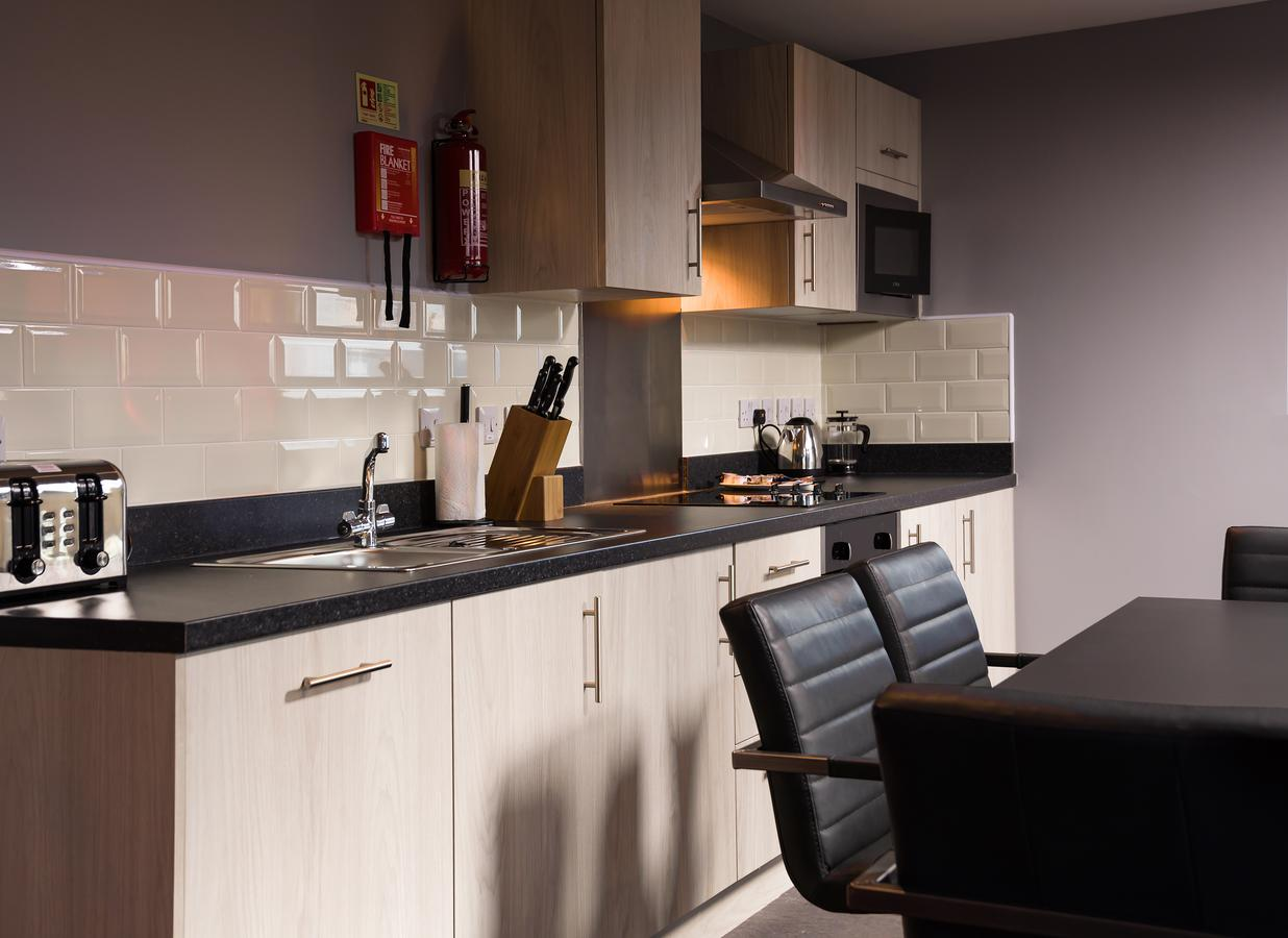 Equipped kitchen at Living room at Dream Apartments Quayside - Citybase Apartments