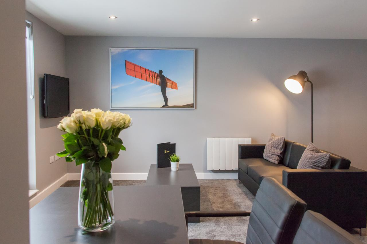 Living/dining area at Dream Apartments Quayside, Centre, Newcastle - Citybase Apartments