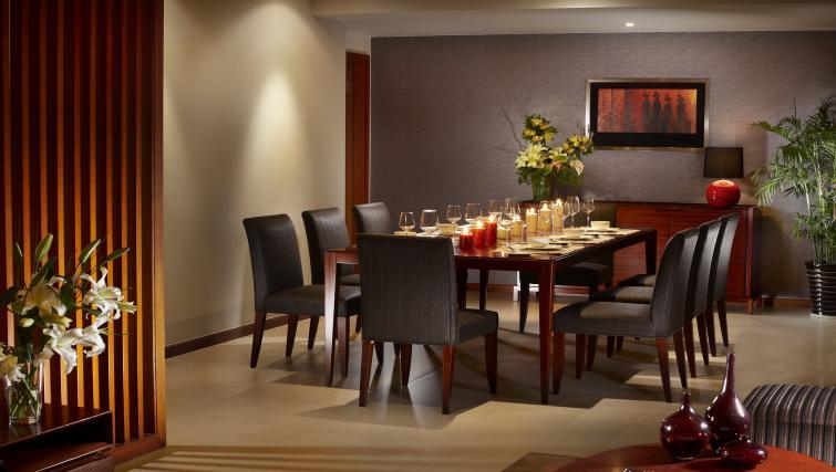 Dining table at Oakwood Residence Shanghai - Citybase Apartments